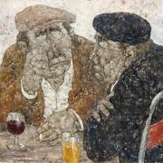 Deux amis au café