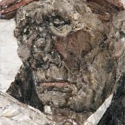 Portrait d'homme au journal
